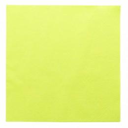 Paquete servilletas papel verde 2 capas 39x39cm