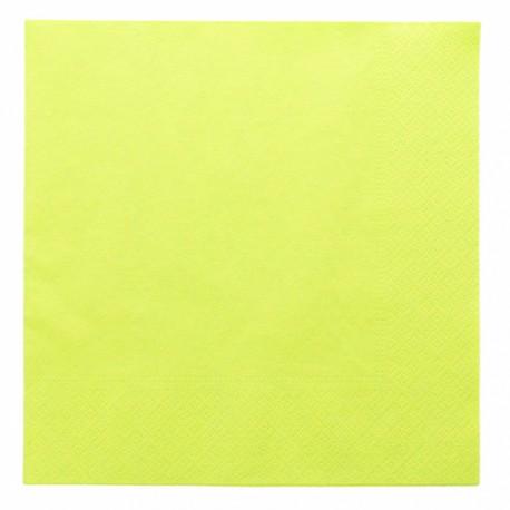 Servilletas verdes 2 capas 39x39cm