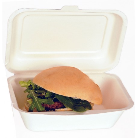 Envase hamburguesa compostable 600ml pack 10u