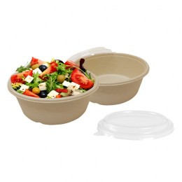 Bol compostable 500ml + tapa pack 50u