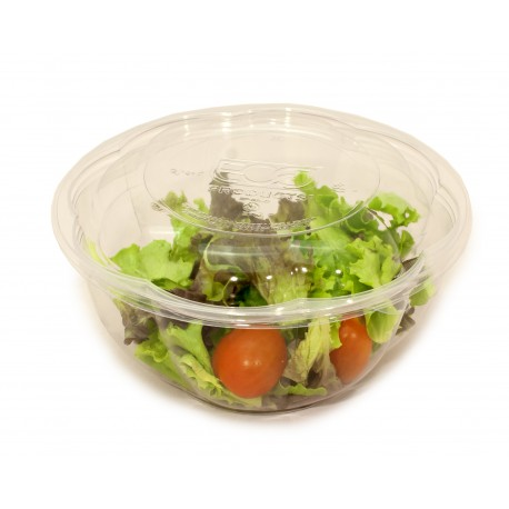 Bol compostable 360ml + tapa pack 10u
