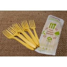 Tenedores compostables pack 15u