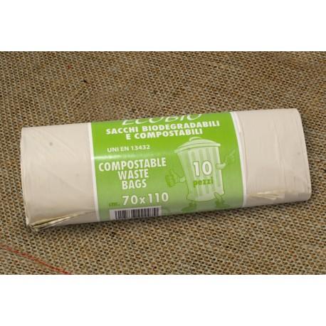 Bolsa basura compostable 70x100cm pack10u