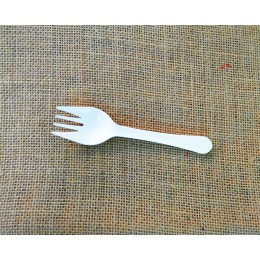 Mini tenedor compostable pack 100u