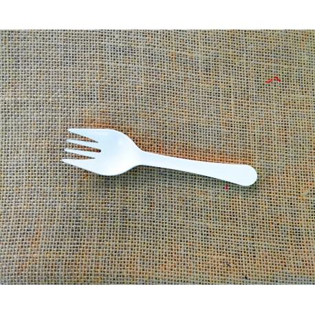 Mini tenedor compostable pack 15u